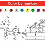 Color by Numbers Free Printable Amazing Christmas Coloring Page by Number with Colouring Pages Numbers Free