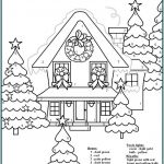 Color by Numbers Free Printable Awesome Christmas Coloring Page by Number with Colouring Pages Numbers Free