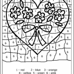 """Color by Numbers Free Printable Creative Search Results for """"valentine"""