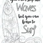 Color Online Free for Adults New Adult Inspirational Coloring Page Printable 03 Learn to Surf