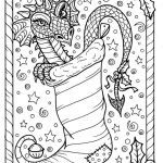 Color Pages Dragon Amazing Dragon Christmas Coloring Page Digital Jpg File Adult Color Fantasy