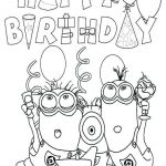 Color Pages Minions Inspirational Happy Birthday Coloring Pages for Nana – Littapes