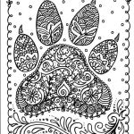 Coloring Animals for Adults Inspired Instant Download Dog Paw Print You Be the Artist Dog Lover Animal
