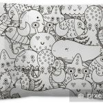 Coloring Book Sea Animals Best Underwater Seamless Pattern for Coloring Book Black and White Cute