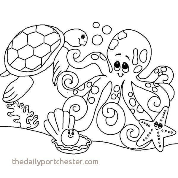 Sea Animals Coloring Pages Awesome Beautiful Printable Ocean Animals