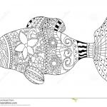 Coloring Book Sea Animals Wonderful Fish Coloring Book Vector for Adults Stock Vector Illustration Of