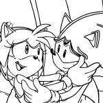 Coloring Book sonic Awesome Amy Rose and sonic Meeting Coloring Page Eth