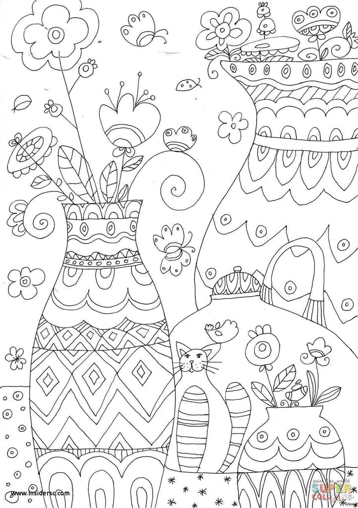 Lovely Trolls Printable Coloring Page 2019
