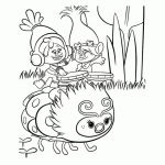 Coloring Book Trolls Inspired Trolls Coloring Pages