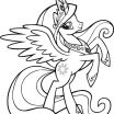 Coloring Books My Little Pony Beautiful New Princess Celestia Coloring Page 2019
