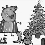 Coloring Christmas Tree Inspiring Awesome Peppa Pig Coloring Pages Fvgiment