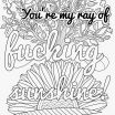 Coloring Images for Adults Inspired Awesome Swear Word Coloring Sheets Nocn
