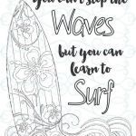 Coloring Online Adults Free Inspirational Adult Inspirational Coloring Page Printable 03 Learn to Surf
