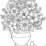 Coloring Page for Adult Inspirational Fall Adult Coloring Pages New Cool Vases Flower Vase Coloring Page