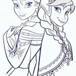 Coloring Page Frozen Brilliant Elsa and Anna Coloring Sheets