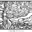 Coloring Pages Adults Marvelous Free Coloring Page Coloring Adult Van Gogh Starry Night Large
