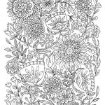 Coloring Pages Adults Printable Inspirational 20 Best Free Printable Flower Coloring Pages for Adults