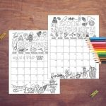 Coloring Pages Calendar Creative 2019 Coloring Calendar Coloring Pages Instant Digital