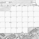 """Coloring Pages Calendar Inspiration August 2017 """"corn Moon"""" Calendar Coloring Page"""