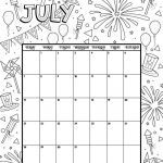 Coloring Pages Calendar Wonderful July 2019 Coloring Calendar Coloring Page