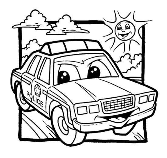 Coloring Pages Cars Marvelous Police Car Coloring Pages