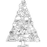 Coloring Pages Christmas ornaments Printable Brilliant Tree Of ornaments Free Coloring Page From Mary Engelbreit