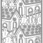 Coloring Pages for Adults Christmas Pretty Adult Christmas House Candy Coloring Pages Printable
