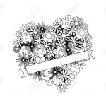 Coloring Pages for Adults Online Free Creative Fresh Coloring Page for Adult Od Kids Simple Floral Heart with