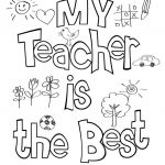 Coloring Pages for Teachers Inspiring Teacher Appreciation Coloring Sheet