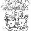 Coloring Pages Minion Inspired Happy Birthday Coloring Pages for Kids