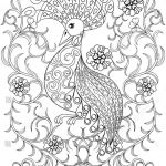 Coloring Pages Of Birds and Flowers Elegant Coloring Page with Bird In Flowers … Stock Avopix
