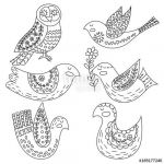 Coloring Pages Of Birds and Flowers Inspiring Coloring Book or Pages for Adults Illustration Birds with Flowers