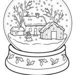 Coloring Pages Of Christmas Trees Awesome Winter Trees Coloring Pages Unique Snow Globe Coloring Page Od