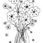 Coloring Pages Online Inspired Printable Vases Flower Vase Coloring Page Pages Flowers In A top I