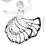 Coloring Pages Princess Elegant 10 Barbie Outline 0d Kids Coloring