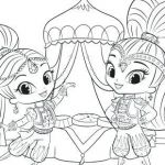 Coloring Pages Shimmer and Shine Creative Coloring Pages Shimmer and Shine Coloring Pages for Children