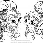Coloring Pages Shimmer and Shine Creative Pin by Michele Fox On Coloring Pages