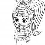 Coloring Pages Shimmer and Shine Elegant Leah From Shimmer and Shine Coloring Page Pages 8 Clipart