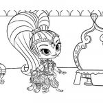 Coloring Pages Shimmer and Shine Elegant Shimmer and Shine Ballerina Coloring Pages