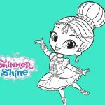 Coloring Pages Shimmer and Shine Inspirational Shimmer and Shine Ballerina Coloring Pages
