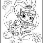 Coloring Pages Shimmer and Shine Pretty Coloring Pages Shimmer and Shine 650 434 Shimmer and Shine