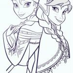 Coloring Pages to Print Frozen Elegant Elsa and Anna Coloring Sheets