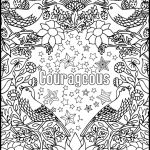 Coloring Patterns for Adults Awesome Courageous Positive Word Coloring Book Printable Coloring Book for