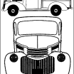 Coloring Pictures Of Trucks Excellent Vintage Truck Color Book Pages