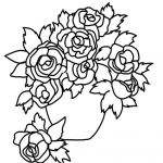Coloring Sheets Online Brilliant Line Coloring Pages Rises Meilleures Best Vases Flower Vase