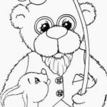 Coloring Teddy Bear Best Free Printable Pajama Coloring Pages S Preschool Coloring