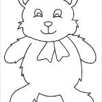 Coloring Teddy Bear Elegant Template Teddy Bear – northma Bfo
