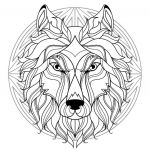 Complex Coloring Pages for Adults Fresh Plex Mandala Coloring Page with Wolf Head 1 Difficult Mandalas