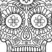 Cool Skull Coloring Pages Awesome Skull Printable Coloring Pages Cool Coloring Page for Adult