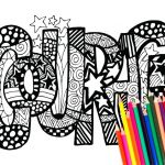 Courage Coloring Page Amazing Coloring Page astonishingl Word Coloring Pages Swear Marque 59